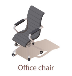 Office chair icon isometric style vector