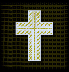 Orthodox christian cross-background vector