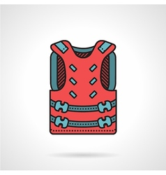 Pink paintball vest icon vector