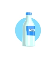 Plastic bottle with milk simple vector
