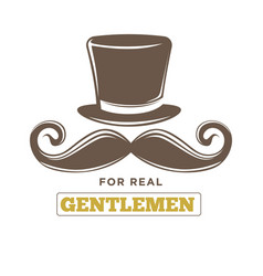 Real gentlemens club isolated vintage emblem with vector