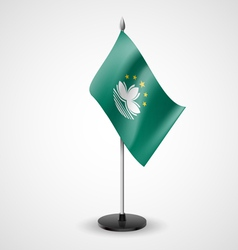 Table flag of macau vector