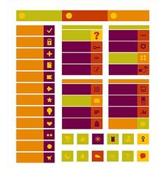 Web design icons vector