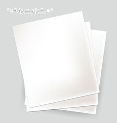 White papers ready for your message vector image