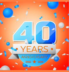 forty years anniversary celebration vector image