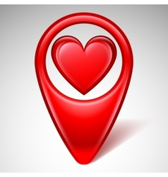 Love map pointer vector