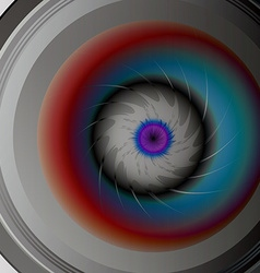 Colorful eye camera lens vector image