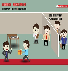 Business recruitment corruption vector