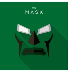 Mask hero superhero flat style icon logo vector