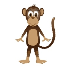 Monkey isolated on white background vector