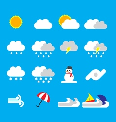 Weather forecast icon flat style vector