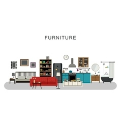 Furniture and home decor vector