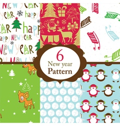 Christmas patterns vector