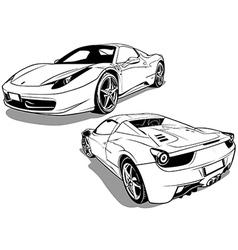 Sport car two views vector