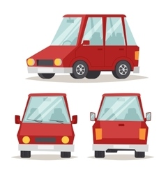 Generic red car luxury design flat vector