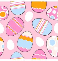 Adorable easter eggs vector