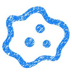 Amoeba grunge icon vector
