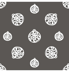 background with Christmas tree balls vector image vector image