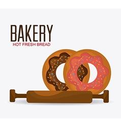 Bakery dessert and milk bar design vector image