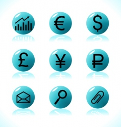 business symbols money vector image vector image