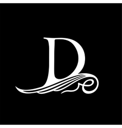 Capital letter d for monograms emblems and logos vector
