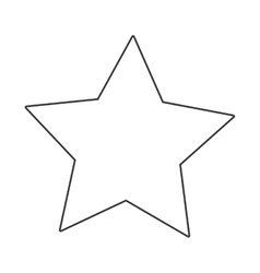 cartoon star icon vector image