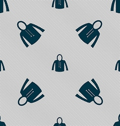 casual jacket icon sign Seamless pattern with vector image