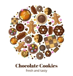 Chocolate christmas cookies vector image vector image
