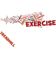 Exercise bikes text background word cloud concept vector