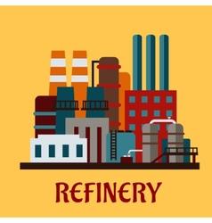 Flat industrial refinery vector image