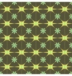 Flower green pastel seamless pattern vector