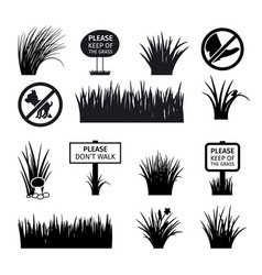 garden or park signs vector image