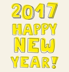 Happy new year 2017 card vector