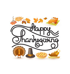 happy thanksgiving card autumn and thanksgiving vector image vector image