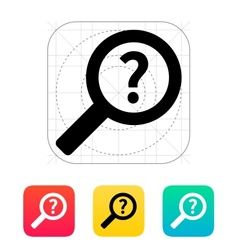 Help and faq search icon vector