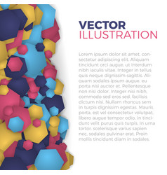 hexagonal abstract background vector image
