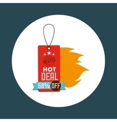Hot deals design vector