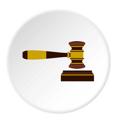 judges gavel icon circle vector image