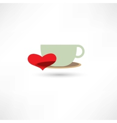 love hot drinks vector image vector image