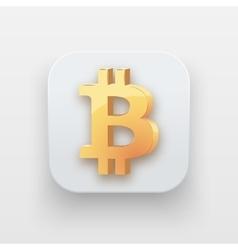 Money icon Symbol of Gold Bitcoin vector image vector image