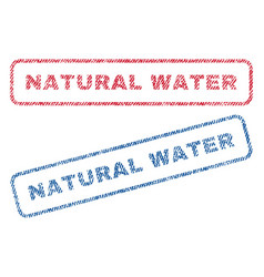 Natural water textile stamps vector