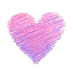 Pastel-heart-violet-pink vector