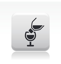 pour wine icon vector image vector image