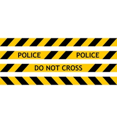 Seamless tape fencing police vector