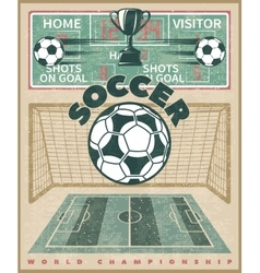 Soccer World Championship Poster vector image
