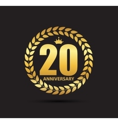 Template Logo 20 Years Anniversary vector image