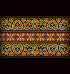 Thai pattern sarong vector