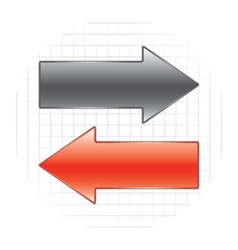 two arrows vector image