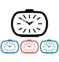 Vintage Alarm Clock Icon vector image vector image