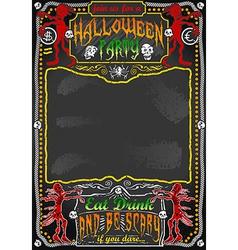 Vintage Blackboard for Halloween Party vector image vector image